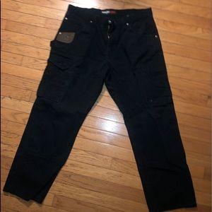 Mens 35x30 Wrangler Riggs blue carpenter pants